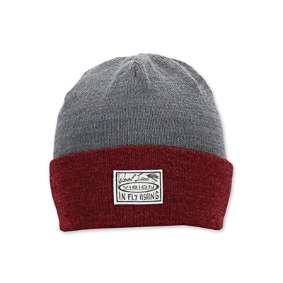 willa light beanie red grey